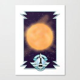 50's vintage space art. Canvas Print