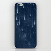 stars iPhone & iPod Skins featuring Wishing Stars by Paula Belle Flores