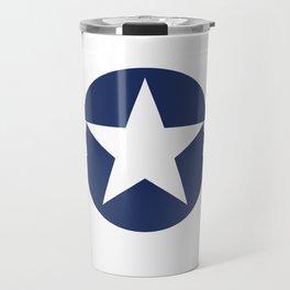 US Airforce style roundel star - High Quality image Travel Mug