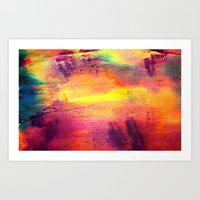 tie dye Art Prints featuring Tie Dye by Sarah Maybin