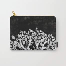 The Zen Tree - White on Black Carry-All Pouch