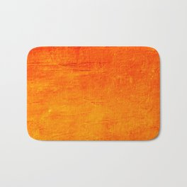 Orange Sunset Textured Acrylic Painting Bath Mat