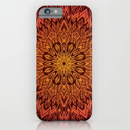 Fire Spirit Mandala Art iPhone Case