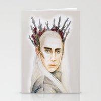 thranduil Stationery Cards featuring Thranduil by Olivia Nicholls-Bates