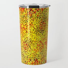 Flame - Abstract, red, yellow and black artistic representation of fire Travel Mug