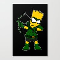 green arrow Canvas Prints featuring Arrow by Betmac
