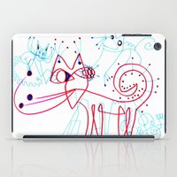 kittens iPad Cases featuring SNOW KITTENS by Vanja Cankovic