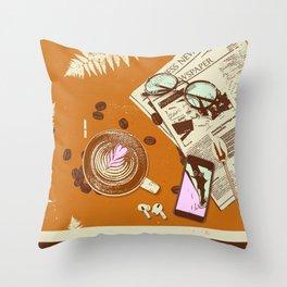 CAFÉ TABLE Throw Pillow