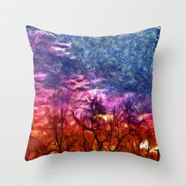 ablaze Throw Pillow