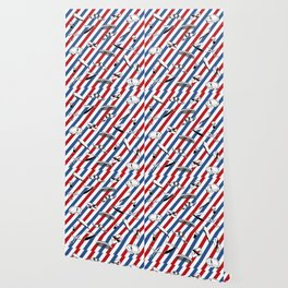 Barber Shop Pattern Wallpaper