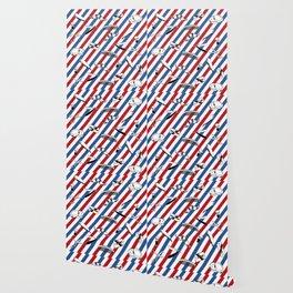 Barber Shop Pattern Wallpaper