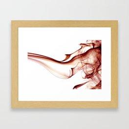 Smoke - Red Framed Art Print