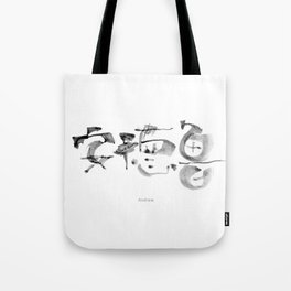 Name: Andrew. Free hand writing in Chinese Calligraphy Tote Bag