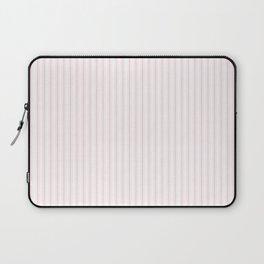 Light Soft Pastel Pink and White Mattress Ticking Laptop Sleeve