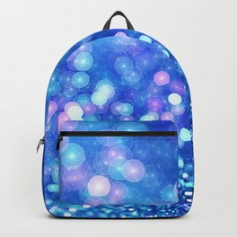 Abstract Blue Glitter Wave Backpack