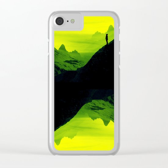 Vibrant Wasteland Clear iPhone Case
