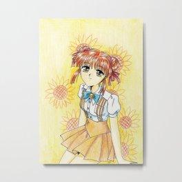 Miaka-chan Metal Print