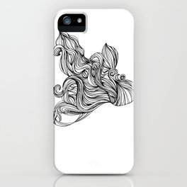 Mortal remains 2013 Ink on Paper iPhone Case