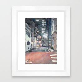 Tokyo at Night 03 Framed Art Print
