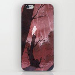 White crow in automn iPhone Skin