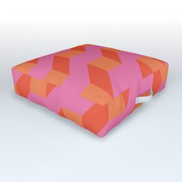 Retro geometry bright pattern no10 Outdoor Floor Cushion