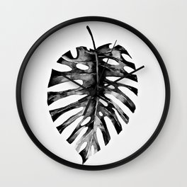Minimal Monstera Wall Clock