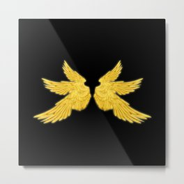 Golden Archangel Wings Metal Print