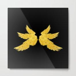 Golden Archangel Wings Metal Print