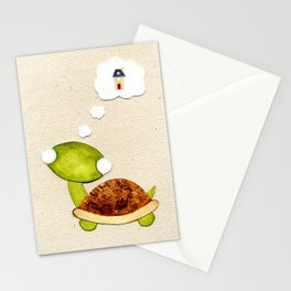 Tortoise wants a New Home Stationery Cards