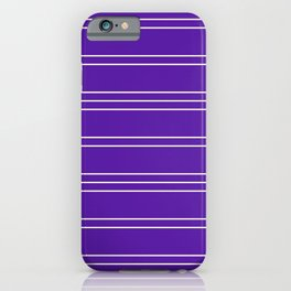 Simple Lines Pattern pu iPhone Case