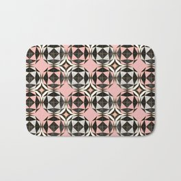Geodesic Optic Roses Bath Mat