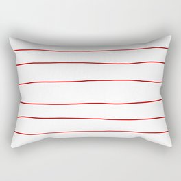 Abstract Red Lines Rectangular Pillow