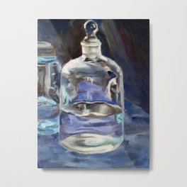 Glass Jar Metal Print