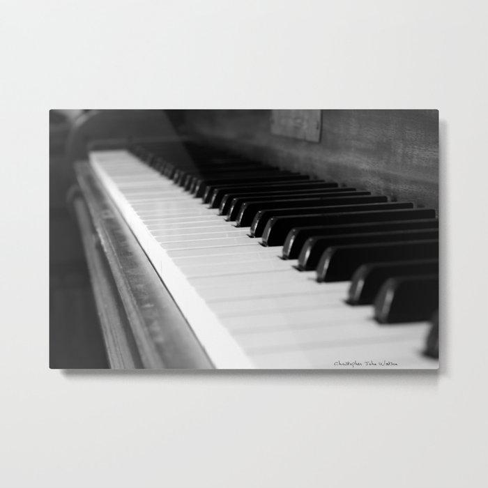 Antique Piano Metal Print