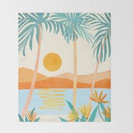 Bali Sunset Throw Blanket