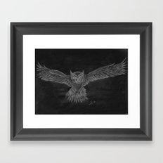 Owl sketch inverted Framed Art Print