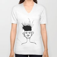 jay fleck V-neck T-shirts featuring Jay by Ivana Quesada