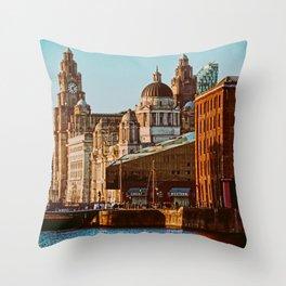 Albert Dock, Liverpool Throw Pillow