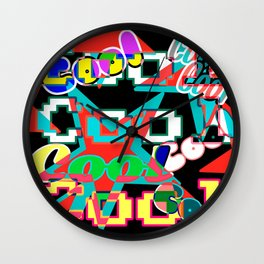 Cool Graffiti Typography Lettering Art 2 Wall Clock