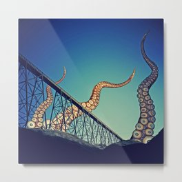 Dawn of the Tentacle Metal Print