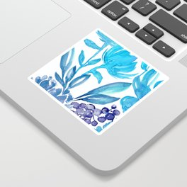 Abstract floral & square #5 Sticker