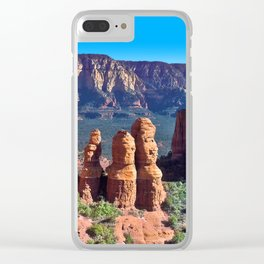 The Three Sisters Clear iPhone Case