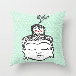 Buddha infinity Throw Pillow