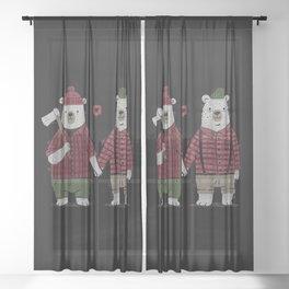 My Bear Valentine Sheer Curtain