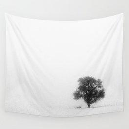 Foggy Tree Wall Tapestry