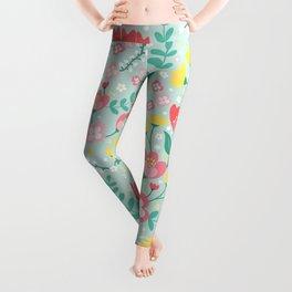 Flower Lovers - Green Leggings