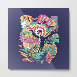 Psychedelic 100 Metal Print