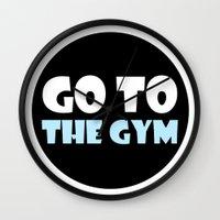 gym Wall Clocks featuring GYM GYM by ItsFahmi