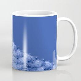Fluid Abstract 41; Blue, Black and White Coffee Mug