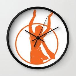 Golden Avatar Orange Wall Clock